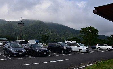 大笹牧場第一駐車場の様子