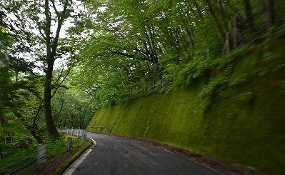 栃木県道245号線の栗山今市線の様子