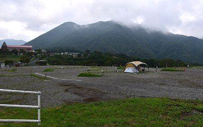 見晴らしの良い場所にあったオートキャンプ場