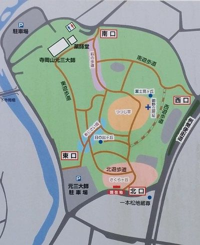 岡崎山遊歩道地図