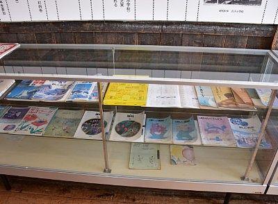 昔の教科書などの展示