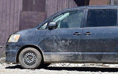 車が汚れているところ