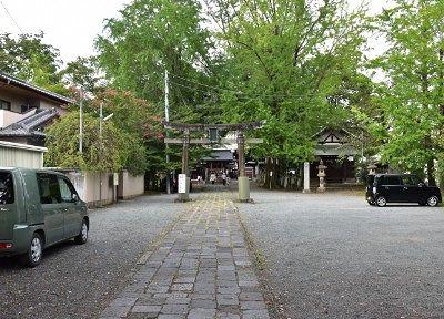 桐生天満宮駐車場の様子