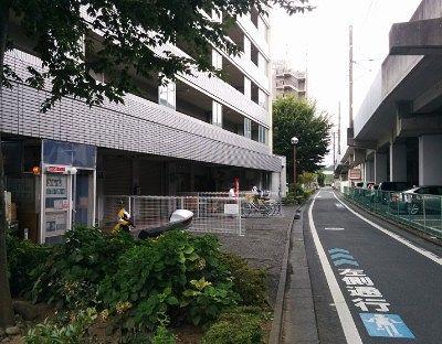 桐生駅からの線路側道