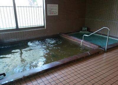 2つの浴槽があった内風呂