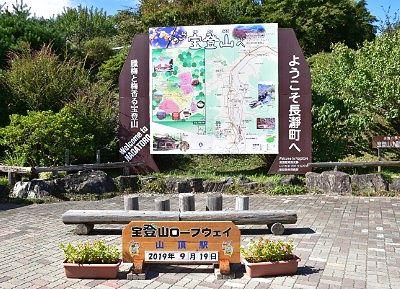 山頂駅前の記念撮影スポット