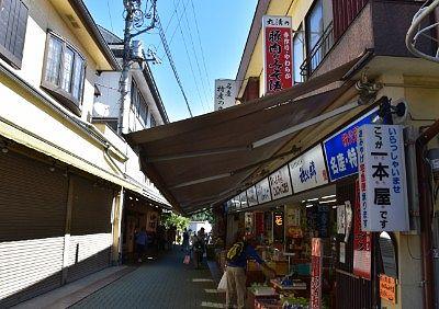 長瀞岩畳近くの商店街の様子