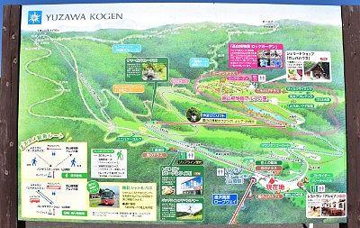トレッキングに役立つ山頂駅周辺観光マップ