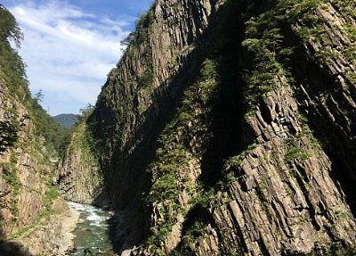 清津峡渓谷一番の見どころ