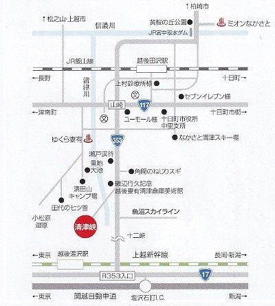 清津峡渓谷周辺マップ