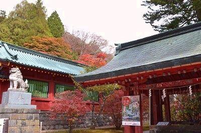 二荒山神社中宮祠の紅葉