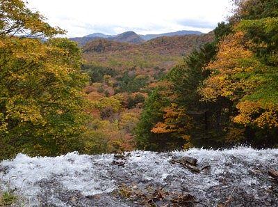 湯滝上の紅葉