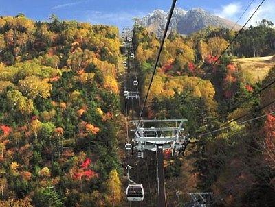日光白根山ロープウェイの紅葉