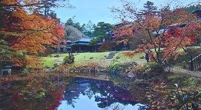 田母沢御用邸の紅葉