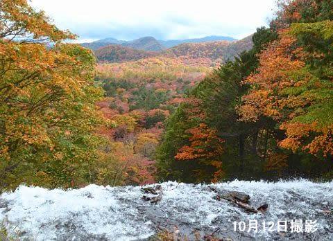 湯滝上からの景色