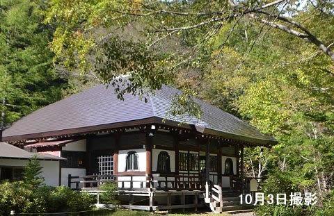 2018年10月3日温泉寺紅葉の様子