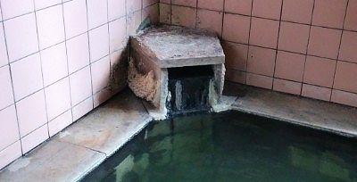 源泉の湯口