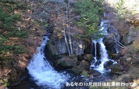 10月26日の竜頭の滝