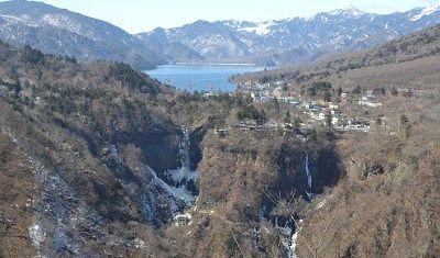 冬の明智平からの景色