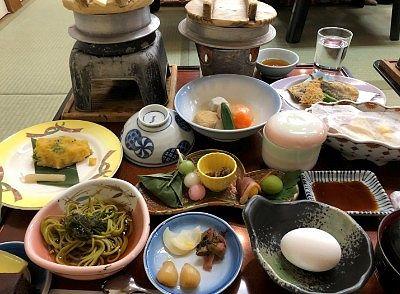 団体旅行の時の料理