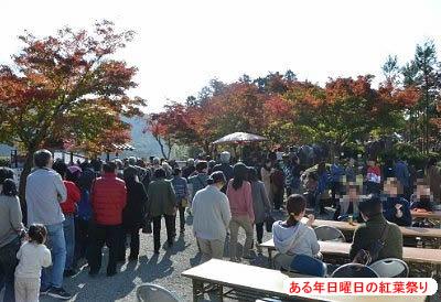 紅葉祭り大混雑の様子