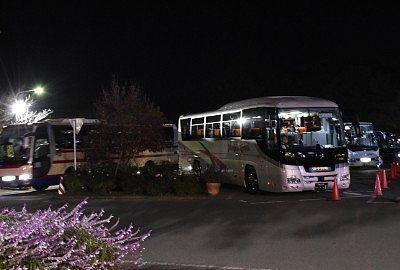 沢山の大型バス