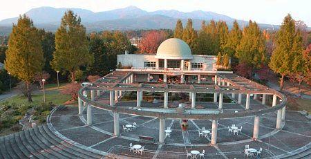 パークタワー展望台から見える赤城山と紅葉