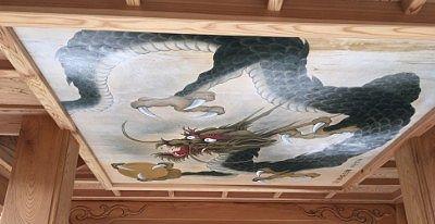 三門にあった龍の天井画