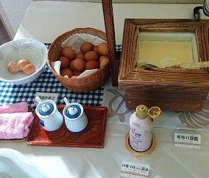 温泉卵と手作り豆腐