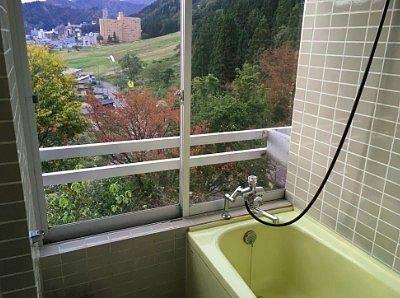 部屋風呂からの眺望