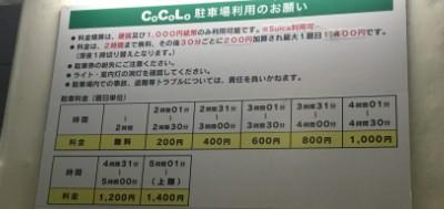 CoCoLo駐車場料金