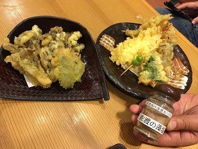 秋天ぷらと普通の天ぷら