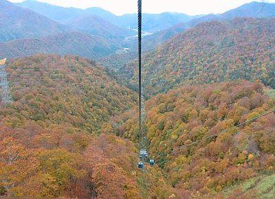 山頂駅近くから見た景色