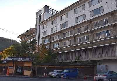 猿ヶ京ホテル駐車場の様子