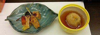 秋の味覚拾いの料理と蒸し物