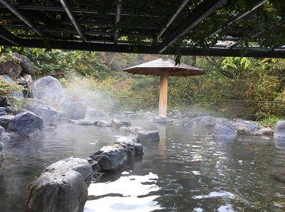昼間の露天風呂