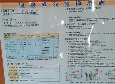 猿ヶ京ホテル温泉成分分析書