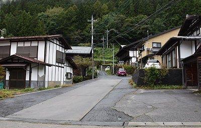 今の永井宿の街並み