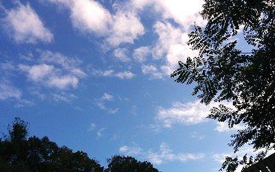 青空も見える