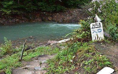 川風呂入口