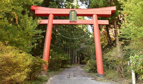 名草厳島神社赤鳥居