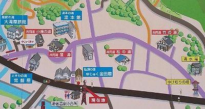 湯宿温泉街マップ