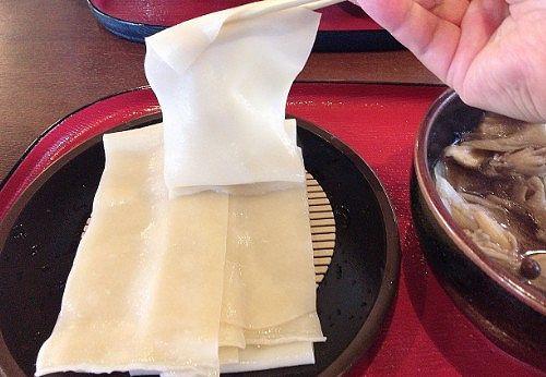 ひもかわうどんの麺