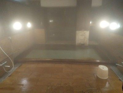 大きい方の湯舟の大浴場