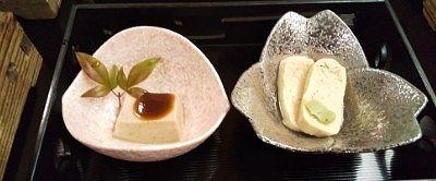 胡麻豆腐、湯葉巻き