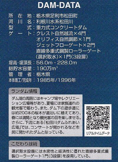 松田川ダムカード裏