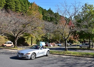 オートキャンプ場の隣の無料駐車場