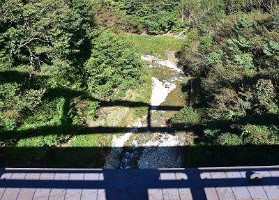 高さのあった赤沢橋