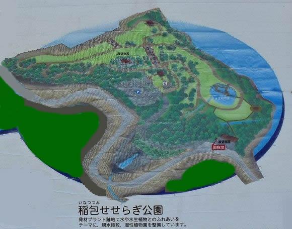 稲包せせらぎ公園マップ