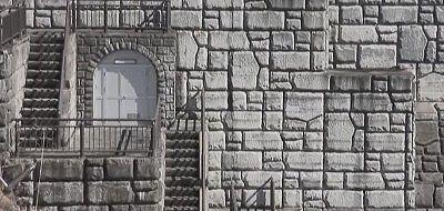 芸術的なコンクリート堤